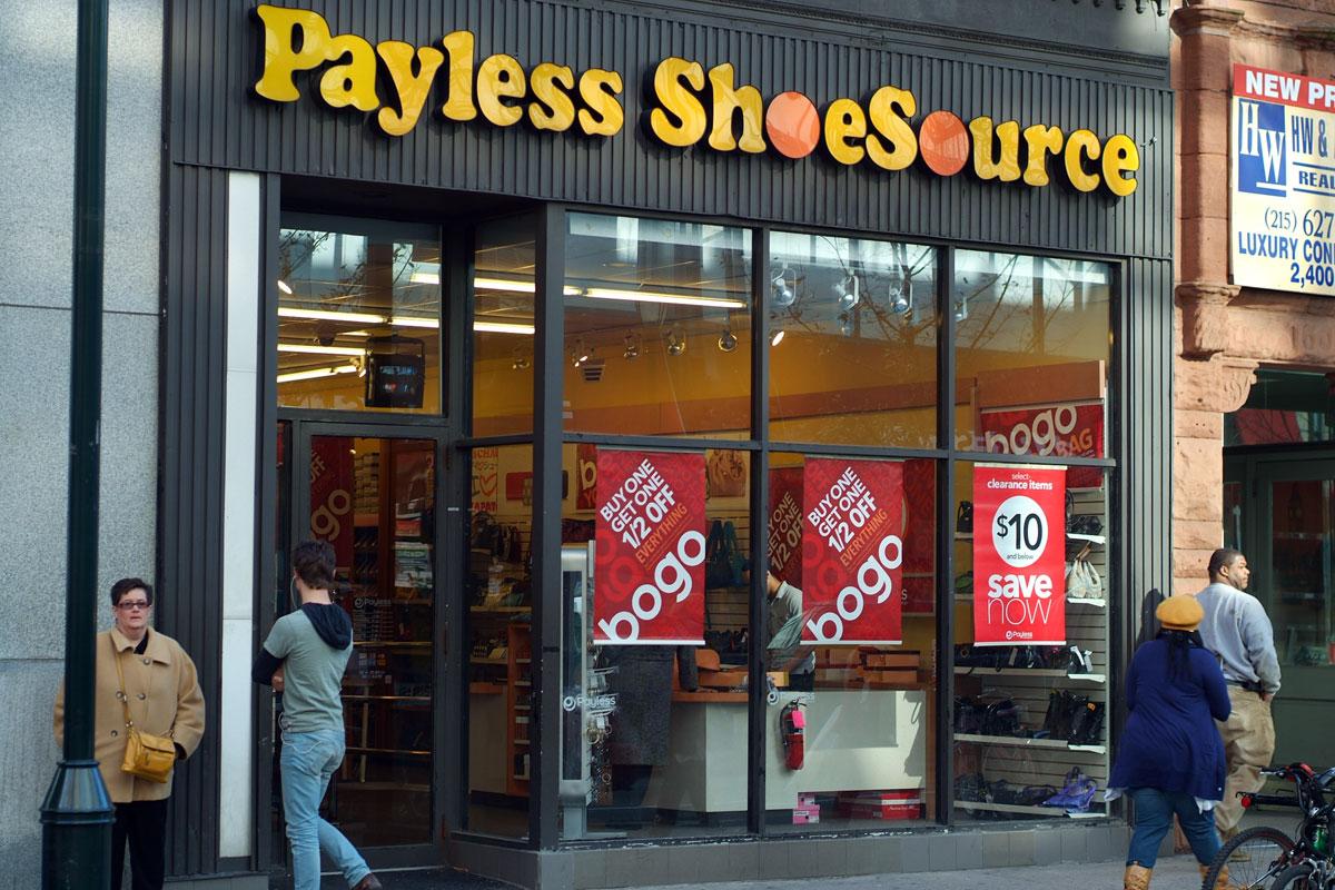 Payless ShoeSource. 1604 Chestnut Street Philadelphia, PA 19102   (215) 564-0429